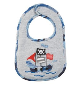 Mud Pie Pirate Ship Flap Bib