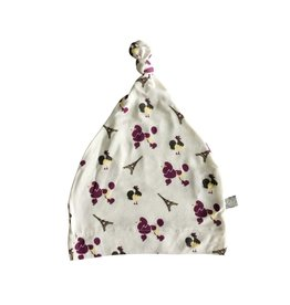 KYTE France Printed Bamboo Knotted Cap 0-6M