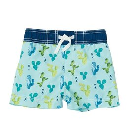 Mud Pie Cactus Print Swim Trunks