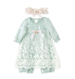 Tesa Babe Bunny Forest Lace Skirted Romper