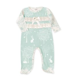 Tesa Babe Bunny Forest Lace Footed Romper