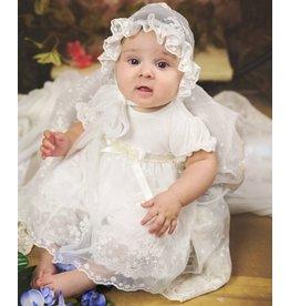Haute Baby Baby's Breath White Lace Criss Cross Set
