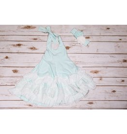 Serendipity Clothing Co Mint Halter Twirl Dress