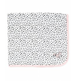 Little Me Pink Poodle Polka Dot Blanket