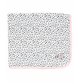 Little Me Pink Poodle Polka Dot Blanket