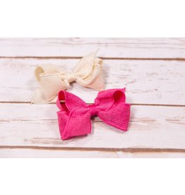 Wee Ones Small Sparkle Burlap Bow