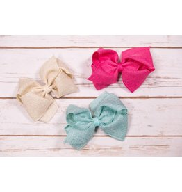 Wee Ones Sparkle Burlap Bow