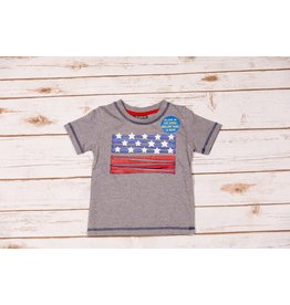 CR Sports Grey Glow in the Dark American Flag Baseball Tee