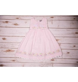 Cotton Kids Seersucker Bunny Collar Dress