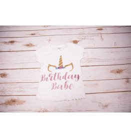 "Reflectionz ""Birthday Babe"" Unicorn Birthday Shirt"