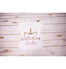 """Reflectionz """"Birthday Babe"""" Unicorn Birthday Shirt"""