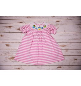 Three Sisters Birthday Smocked Bishop Dress