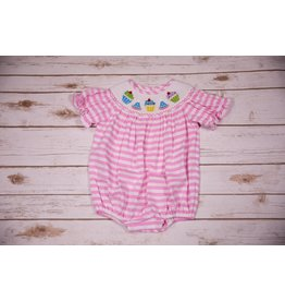 Three Sisters Birthday Smocked Girls Bubble