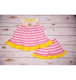 Three Sisters Lemonade Smocked Shortset