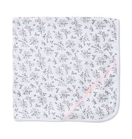 Little Me Pink Bird Print Blanket
