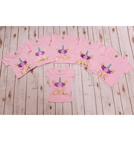 Jujubee Bowtique Pink Unicorn Birthday Shirt