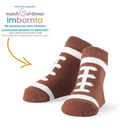 Mud Pie Football Sock 0-12M