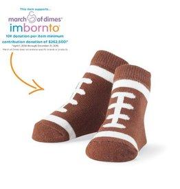 Mud Pie Football Sock 0-12M