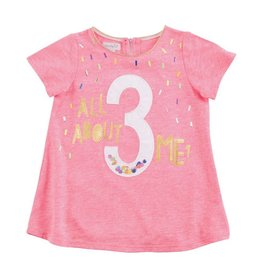 Mud Pie 3 All About Me Birthday Shirt