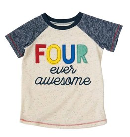 Mud Pie Four Ever Awesome Birthday Shirt