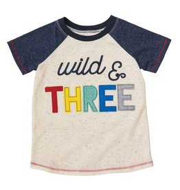 Mud Pie Wild and Three Birthday Shirt