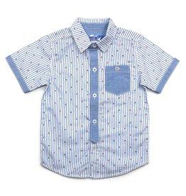 Kapital K Anchor Striped Collared Shirt