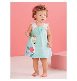 Mud Pie Flamingo Dress and Bloomer Set