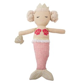 Mud Pie Light Pink Tail Mermaid Doll