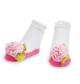 Mud Pie Jersey Flower Sock