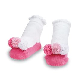 Mud Pie Pink Mess Puff Socks