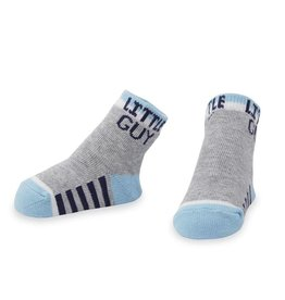 Mud Pie Little Guy Socks Blue with Gray
