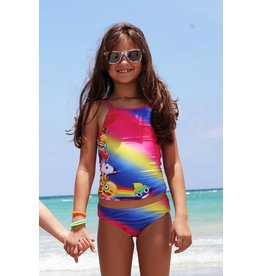 Lime Apple Tie Dye Emoji Tankini