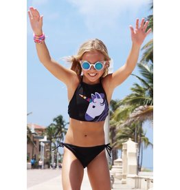 Lime Apple Unicorn Cropped Tankini