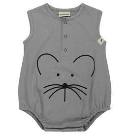 Turtledove Mouse Face Bubble Romper