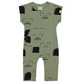 Turtledove Mouse House Pocket Playsuit
