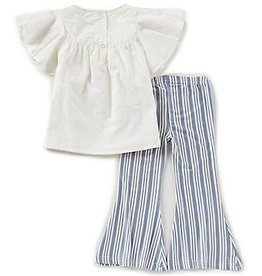 Jessica Simpson Baby White Embroidered Flounce Outfit