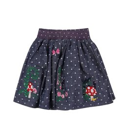 Lilly & Sid Country Garden Woven Skirt with Embriodery