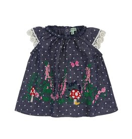 Lilly & Sid Country Garden Woven Dress with Embroidery