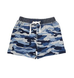 Mud Pie Blue Camo Pull on Shorts