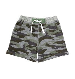 Mud Pie Green Camo Pull-On Shorts