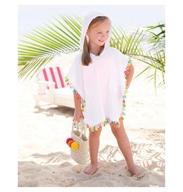 Mud Pie Hooded Tassel Cover Up