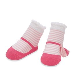 Mud Pie Pink with White Striped Socks