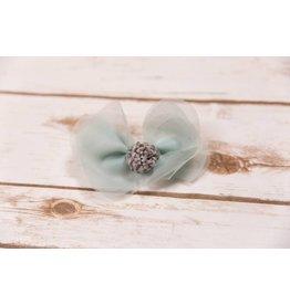 Mae Li Rose Petal Pomp Pom Clip