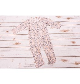 Jessica Simpson Baby Peach Nectar Ikat Footie