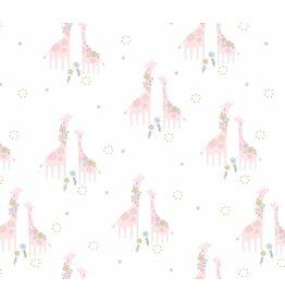 Angel Dear Floral Giraffe Bamboo Swaddle Blanket