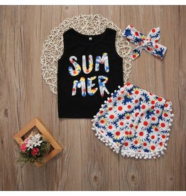 Summer Short Set with Headband