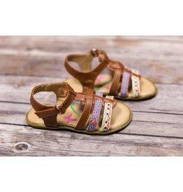 Petalia Multi Color Aztec Brown Sandal