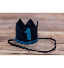 Sweet Wink Navy Blue and Blue #1 Birthday Crown