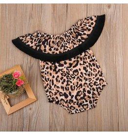 Leopard Fringe Romper