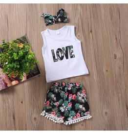 Tropical Love Short and Headband Set